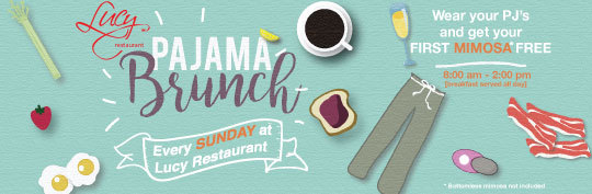 Pajama Brunch at Lucy Restaurant